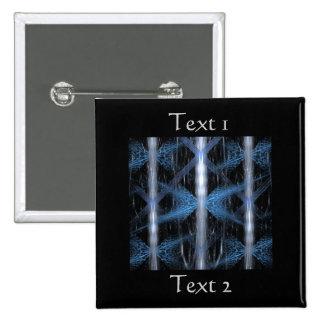 Fractal abstracto azul y negro Art. del diseño Pins