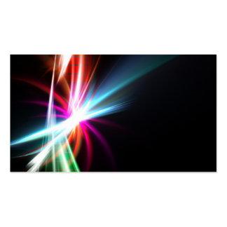 Fractal abstracto del arco iris tarjetas de visita