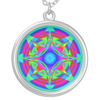 Fractal abstracto del diseño geométrico colgante redondo