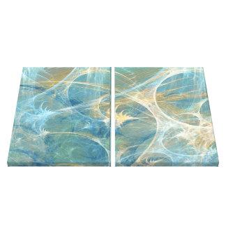 Fractal abstracto del susurro 3D Impresiones En Lona Estiradas