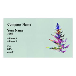 Fractal - árbol de navidad colorido tarjetas de visita