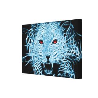Fractal azul del leopardo de Digitaces Lienzo