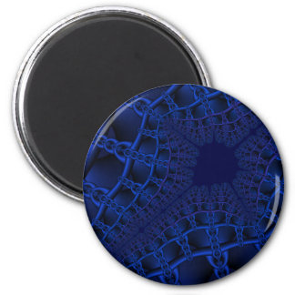 Fractal azul eléctrico imán