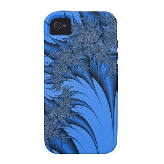 Fractal azul Case-Mate iPhone 4 carcasa