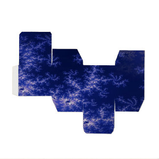 Fractal azul marino caja para regalos