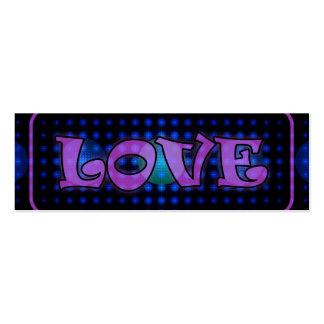 """Fractal de la bola de discoteca del """"amor"""" tarjeta de visita"""