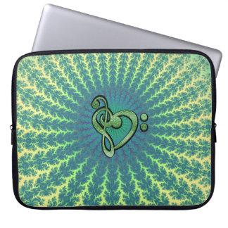 Fractal de la sol con la manga del corazón del mangas computadora