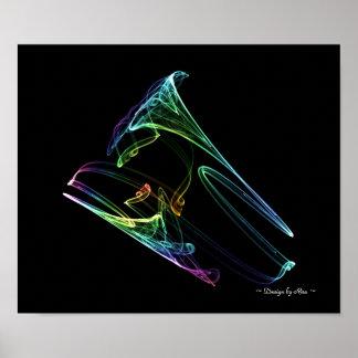 Fractal de la trompeta poster