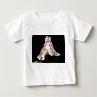 Fractal de los zapatos de ballet camiseta para bebé