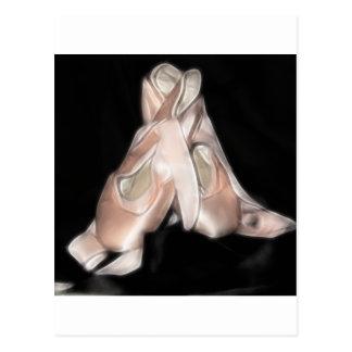 Fractal de los zapatos de ballet postal
