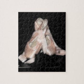 Fractal de los zapatos de ballet puzzle con fotos