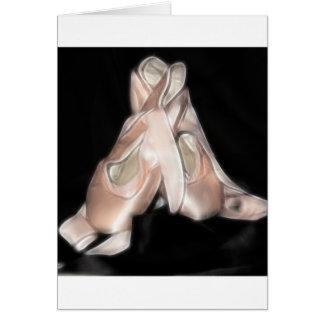 Fractal de los zapatos de ballet tarjeta pequeña