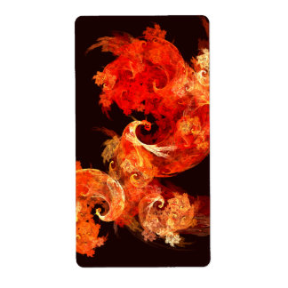Fractal del arte abstracto de Firebirds del baile Etiqueta De Envío