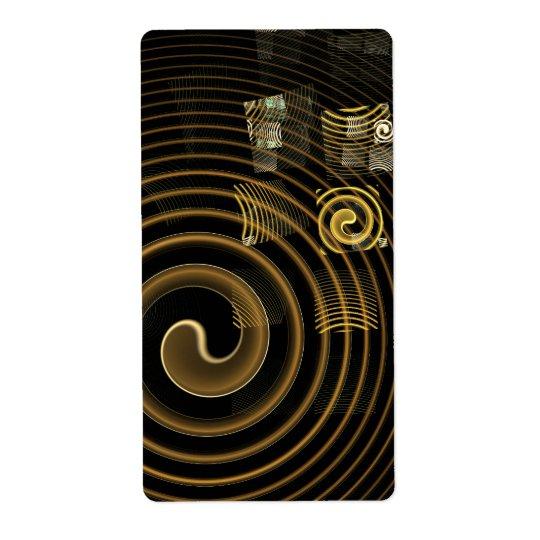 Fractal del arte abstracto de la hipnosis etiquetas de envío