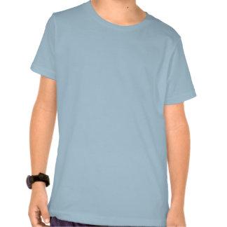 Fractal del extracto del color de la turquesa camiseta