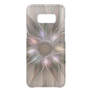 Fractal floral beige de Brown del extracto alegre Funda Para Samsung Galaxy S8 De Uncommon