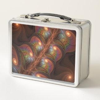 Fractal moderno abstracto fluorescente colorido de