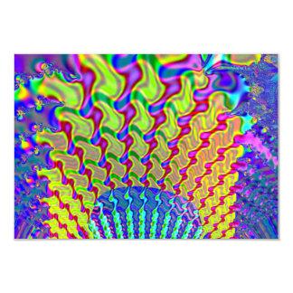 Fractal olímpico de la antorcha invitación 8,9 x 12,7 cm