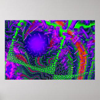 Fractal óptico de la sobremarcha 3D Impresiones