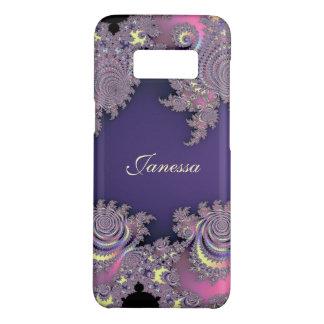 Fractal púrpura de la lavanda preciosa funda de Case-Mate para samsung galaxy s8