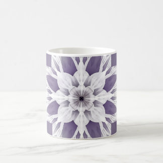Fractal púrpura hermoso taza de café