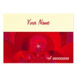 fractal rojo con la chispa tarjetas de visita grandes