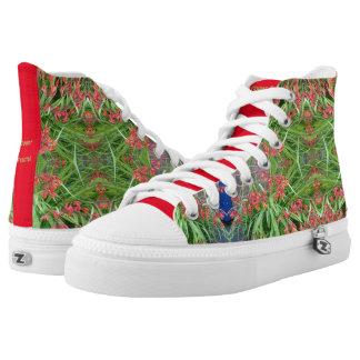Fractal rojo de la flor del lirio de los zapatos