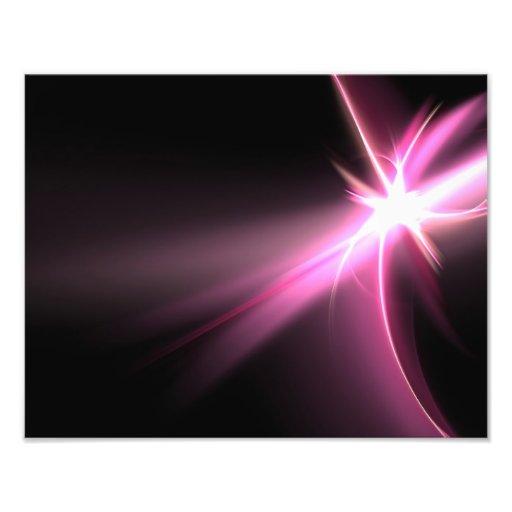 Fractal rosado de la energía de Abtract Impresiones Fotográficas