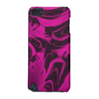 Fractal rosado y negro funda para iPod touch 5