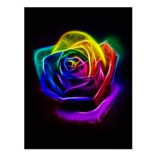 Fractal subió arco iris postal