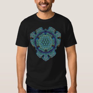 Fractal tridimensional abstracto camiseta