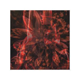 Fractales abstractos impresión en lienzo