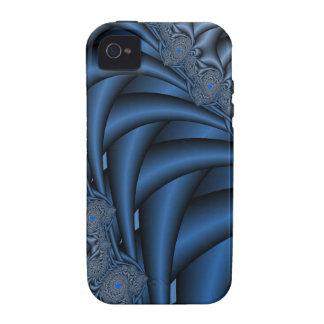 Fractales azules Case-Mate iPhone 4 carcasas