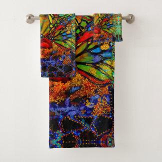 Fractura a través de ilustraciones de la mariposa