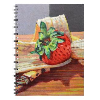 Fractura de plátano de la fresa cuaderno