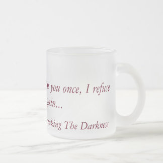 Fractura del vidrio esmerilado de la oscuridad taza de café esmerilada