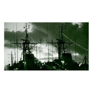 Fragatas portuguesas de la marina de guerra tarjetas de visita