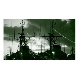 Fragatas portuguesas de la marina de guerra plantilla de tarjeta de visita