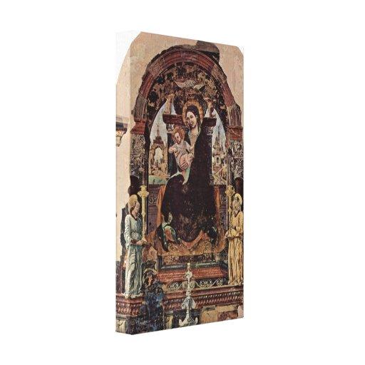 Fragmento de Francesco del Cossa - de Madonna Impresión En Lona Estirada