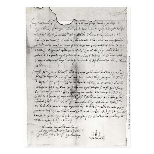 Fragmento de la letra escrito por Christopher Postal