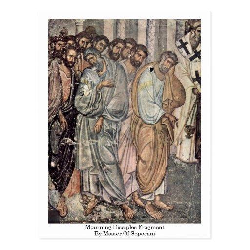 Fragmento de luto de los discípulos por el amo de  tarjetas postales