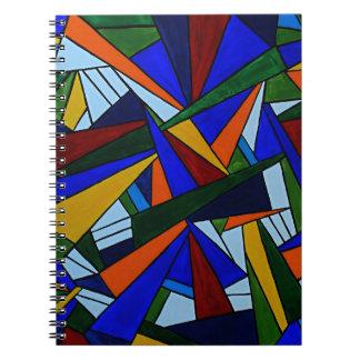 Fragmentos coloridos cuaderno