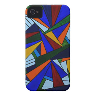Fragmentos coloridos funda para iPhone 4 de Case-Mate