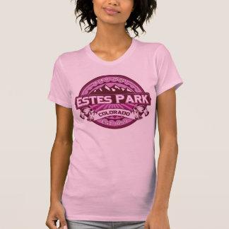 Frambuesa del logotipo del color del parque de camiseta