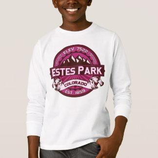 Frambuesa del logotipo del parque de Estes Camiseta