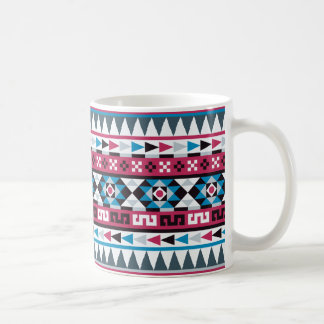 Frambuesa y modelo azteca azul taza de café