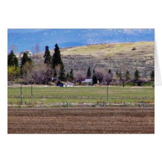 Frams coloca las colinas tarjeta de felicitación