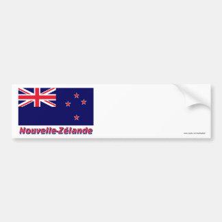 Français de avec le nom en del Nouvelle-Zélande de Pegatina Para Coche