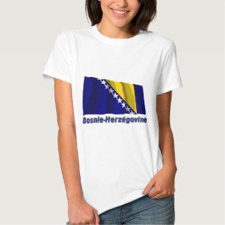 Français de Drapeau Bosnie-Herzégovine avec le nom Camiseta