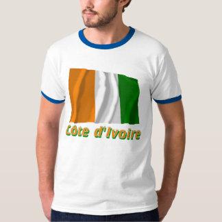 Français de Drapeau Côte d'Ivoire avec le nom en Camisetas